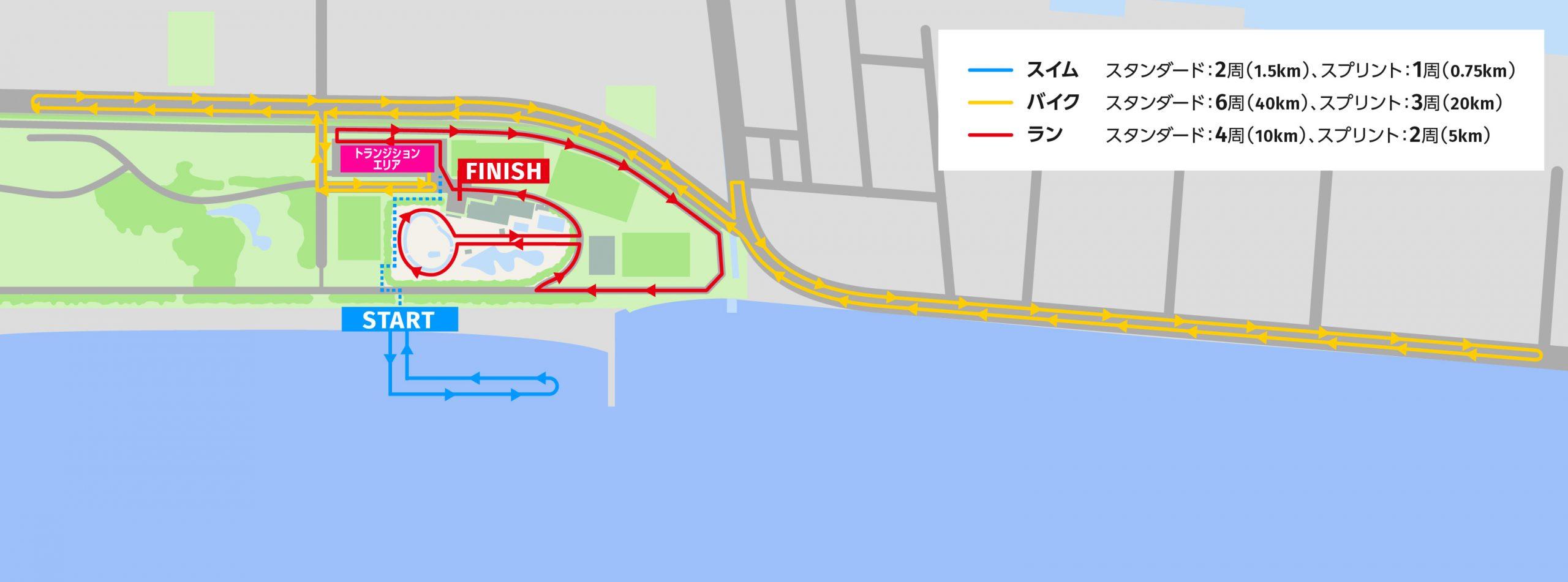 コース全体図:スタンダード、スプリント
